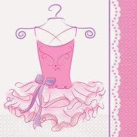 Contient : 1 x 16 Serviettes Pink Ballerine