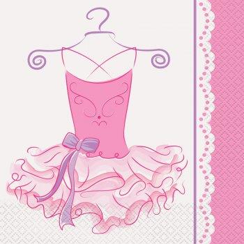 16 Serviettes Pink Ballerine
