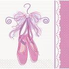 16 Petites Serviettes Pink Ballerine