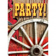 8 Invitations Western Rodeo