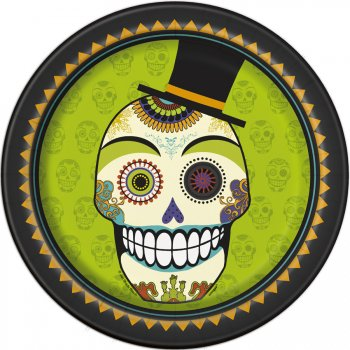 8 Assiettes Squelette en fête