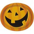 8 Assiettes Ovales Smiling Pumpkin