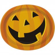 8 Assiettes Ovales Smiling Pumpkin