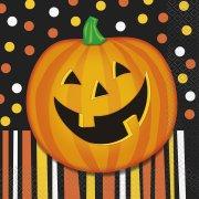 20 Serviettes Smiling Pumpkin