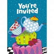 8 Invitations Thé et Merveilles
