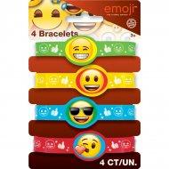 4 Bracelets Emoji Smiley Silicone