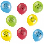 8 Ballons Emoji Smiley Multicolores
