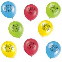 Contient : 1 x 8 Ballons Emoji Smiley Multicolores