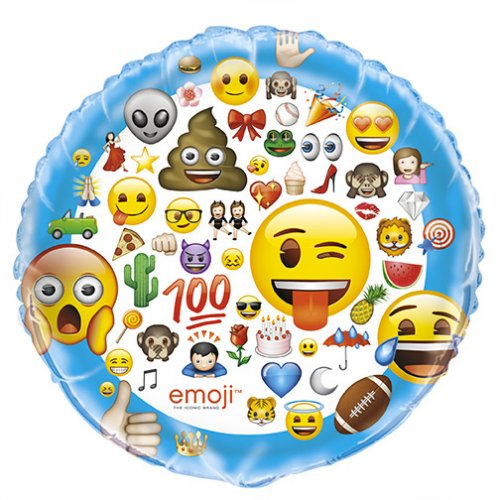 Ballon Géant 100 Emoji Smiley (86 cm)
