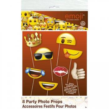 Kit 8 Photo Booth Emoji Smiley