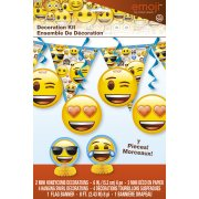 Kit 7 Décorations Emoji Smiley
