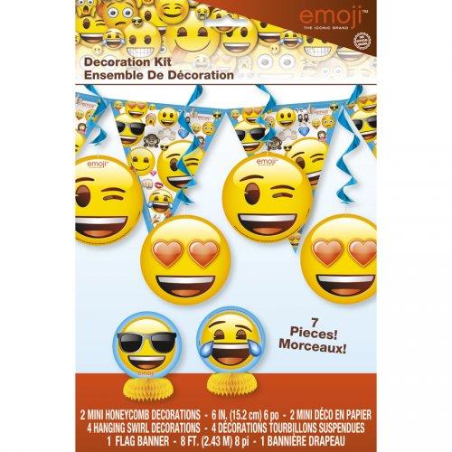 Kit 7 Décorations Emoji Smiley
