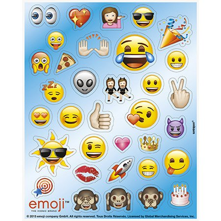 4 Planches de stickers Emoji Smiley