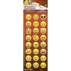 24 stickers Vinyle Emoji Smiley