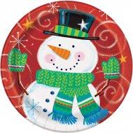 8 Petites Assiettes Tourbillon de Noël