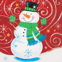 Contient : 1 x 16 Serviettes Tourbillon de Noël