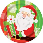 8 Assiettes Gentil Père Noël