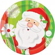 8 Petites Assiettes Gentil Père Noël
