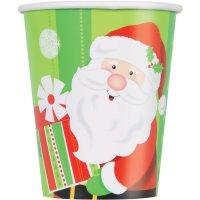 Contient : 1 x 8 Gobelets Gentil Père Noël