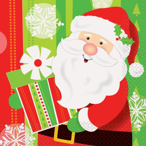 16 Serviettes Gentil Père Noël