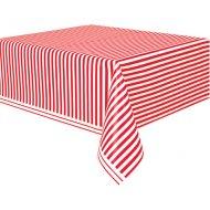 Nappe Rayures Rouge et Blanc - Plastique