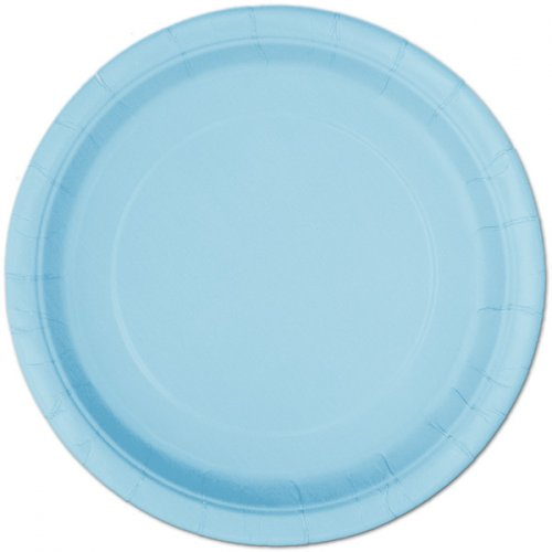 8 Assiettes Bleu Ciel