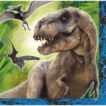 16 Petites Serviettes Jurassic World