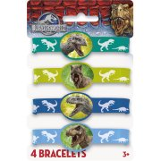 4 Bracelets Jurassic World Silicone