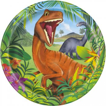 8 Assiettes Dino Jungle