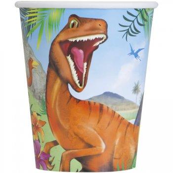 8 Gobelets Dino Jungle