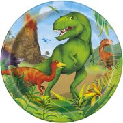 8 Petites Assiettes Dino Jungle