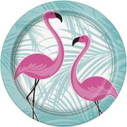 8 Assiettes Flamant Rose Vintage