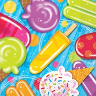 16 Serviettes Ice Cream
