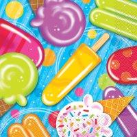 Contient : 1 x 16 Serviettes Ice Cream