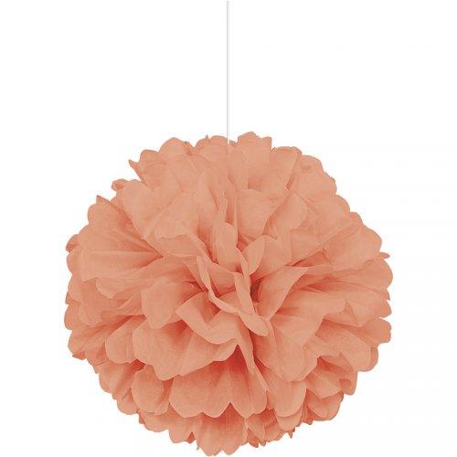 Boule Papier Frou frou Corail (40 cm)