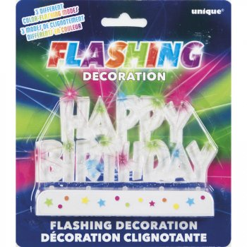 Déco Happy Birthday Clignotante (12 cm)