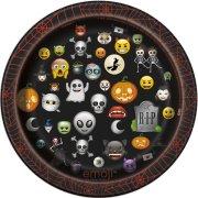 8 Petites Assiettes Emoji Halloween