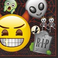Contient : 1 x 16 Serviettes Emoji Halloween