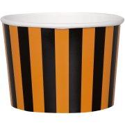 8 Pots Rayés Orange/ Noir (8,5 cm)