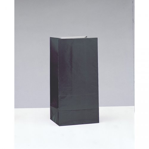 12 Sacs Papier Noir