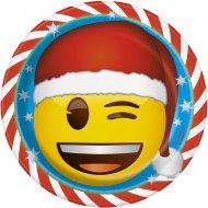 8 Assiettes Emoji Xmas