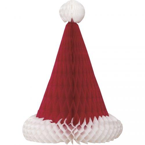 Déco Bonnet de Noël 3D (30 cm) - Papier Nid d Abeille