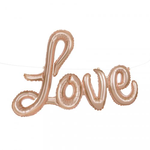 Guirlande Ballon Love Rose Gold (91 cm)