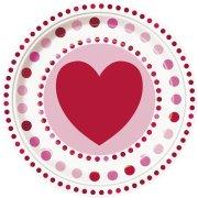 8 Assiettes Coeur Farandole