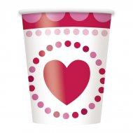 8 Gobelets Coeur Farandole
