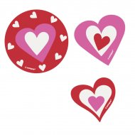 24 Maxi Confettis Coeur Farandole (5 cm)