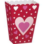 6 Boîtes à Popcorn Coeur Farandole