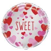 Ballon Gonflé à l'Hélium Coeur Sweet