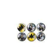 6 Balles Rebondissantes Batman DC (3 cm)