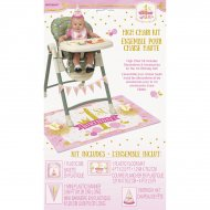Kit Décorations Chaise Bébé 1 An Princesse